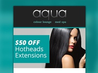 Email Marketing Design & Development - Aqua Colour Lounge