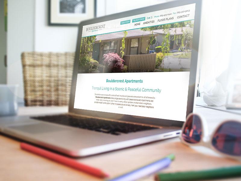 Website Design - Bouldercrest Apartments uiux design graphic design design website design