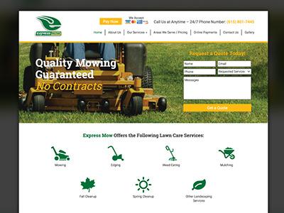 Website Design - Express Mow uiux design graphic design design website design