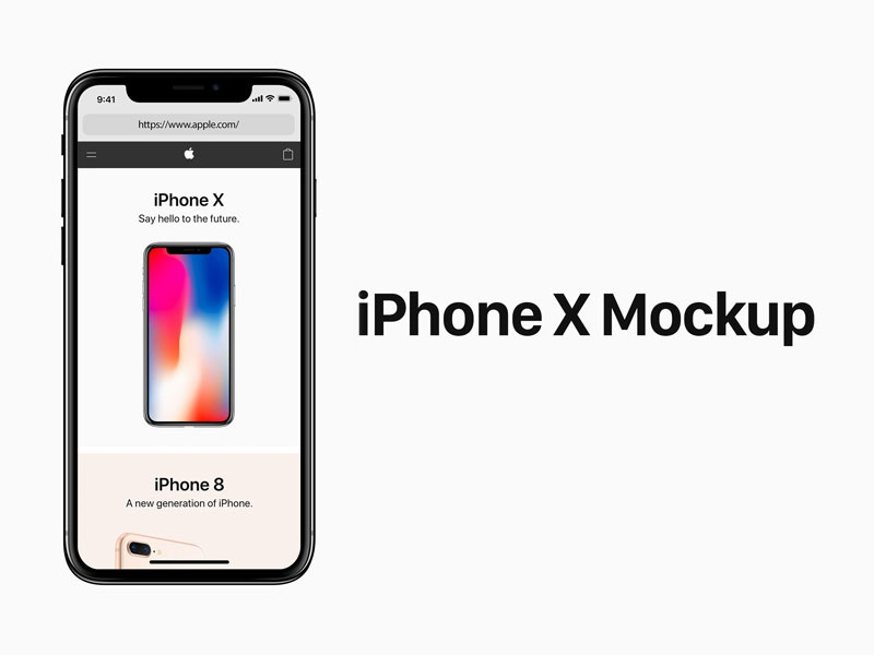 Iphone X PSD Mockup uiux design mockup psd iphone iphone x