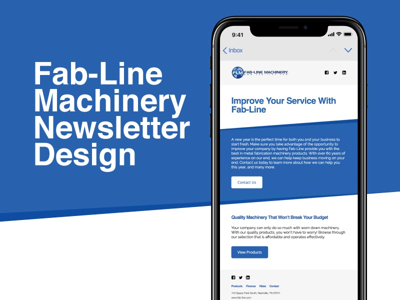 Email Marketing Design & Development - Fab-Line Machinery newsletter marketing email development