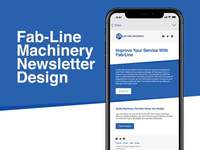 Email Marketing Design & Development - Fab-Line Machinery