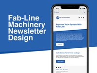 Email Marketing Design & Development - Fab-Line Machinery