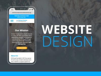 Website Design - Cannon County Community for Animals responsive website website development ui design graphic design website design