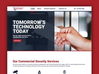Website Design - Tennessee Security responsive web design design graphic design web design