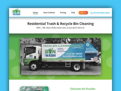 Website Design - Austin Bin Wash responsive web design design graphic design web design