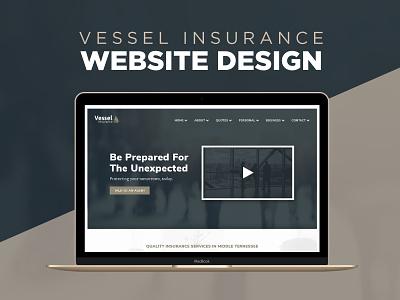 Website Design - Vessel Insurance ui design responsive web design design graphic design web design