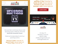 Email Design & Development - Auction Game Sales