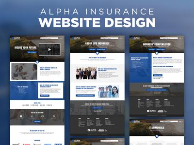 Website Design - Alpha Insurance responsive web design design graphic design web design