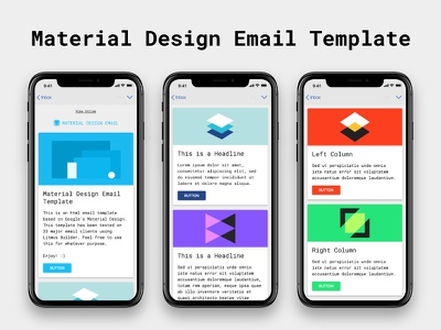 Material Design - Free HTML Email Template email marketing graphic design web design email design