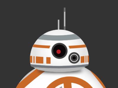 BB-8 Animated SVG svg graphic design star wars bb8 animated svg