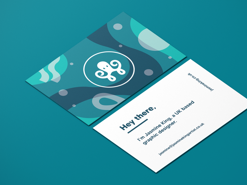 Business card - Self Branding Project identity selfbranding sea businesscard ocean octopus logo branding design illustration graphic design