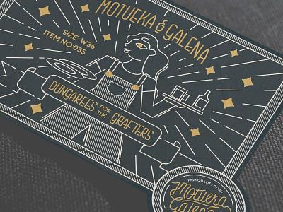 Paper Label Design - Motueka & Galena vectorgraphic drawing apparel graphics monoline graphic design design handlettering illustration branding denim branding hospitality adobe illustrator adobe apparel design apparel