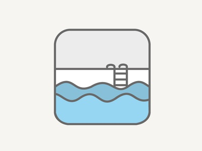 Swimming line drawing swimming icon