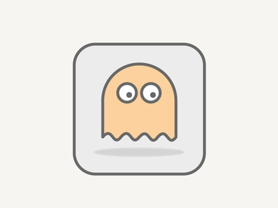 Pacman Ghost graphic design line drawing games icon