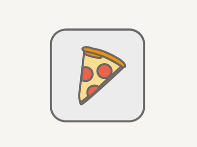 Pizza line drawing pizza icon