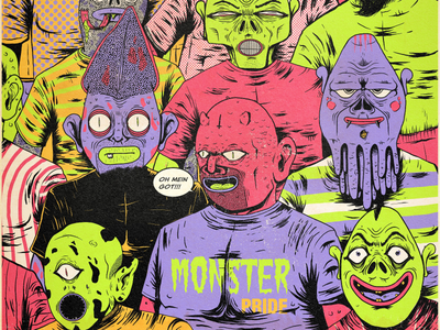 Monster pride illustration