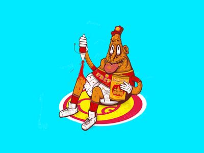 Fritãs branding design vector illustration
