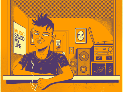 Prédio alaranjado brazil room playlist orange music spotify design illustrator illustration
