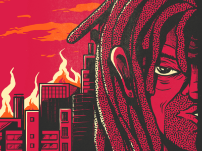 CITY IN FLAMES photoshop illustrator graphicdesign illustration fire brazil saopaulo city flames