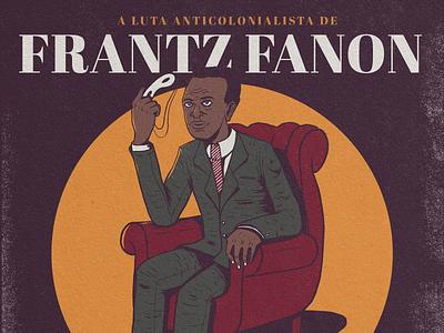Frantz Fanon black graphicdesign algerie illustration france