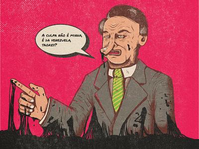 Fuck Bolsonazi vector illustration
