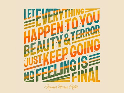 No Feeling is Final Quote illustration design quote word art type art typogaphy hand lettering handlettering