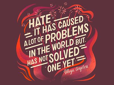 Toni Morrison Hate Quote floral illustration toni morrison design word art quote type art typogaphy hand lettering handlettering