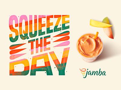 Jamba Campaign typogaphy branding design word art illustration hand lettering type art handlettering