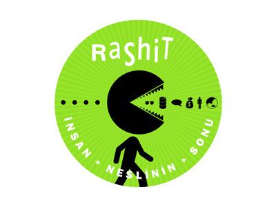 Sticker Design For Rashit music sticker pacman