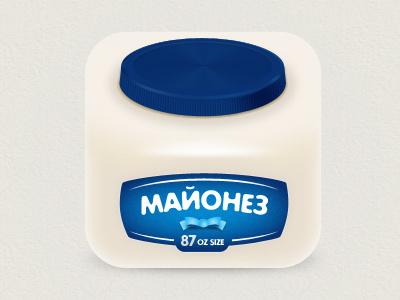Mayonnaise hochland cooking icon pack size mayonnaise white