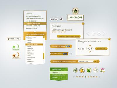 Sanoflore sanaflore dropdown menu popup bionics arrow button basket buy