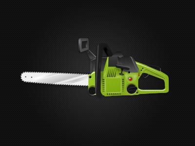 Chainsaw chainsaw green zombie cutting