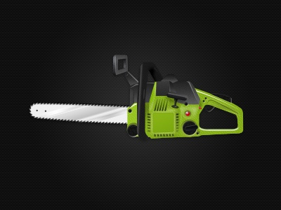 Chainsaw chainsaw green zombie cutting