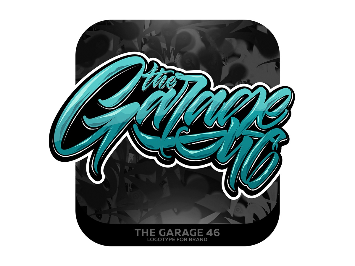 the Garage 46 type graffiti illustrator branding typography design леттеринг каллиграфия vector logotype logo lettering illustration calligraphy