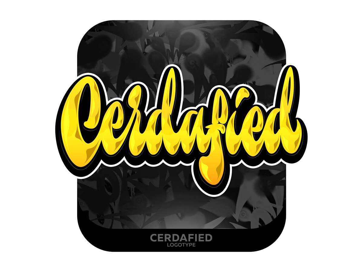 Cerdafied Lettering type graffiti illustrator branding typography design леттеринг каллиграфия logo vector logotype lettering illustration calligraphy
