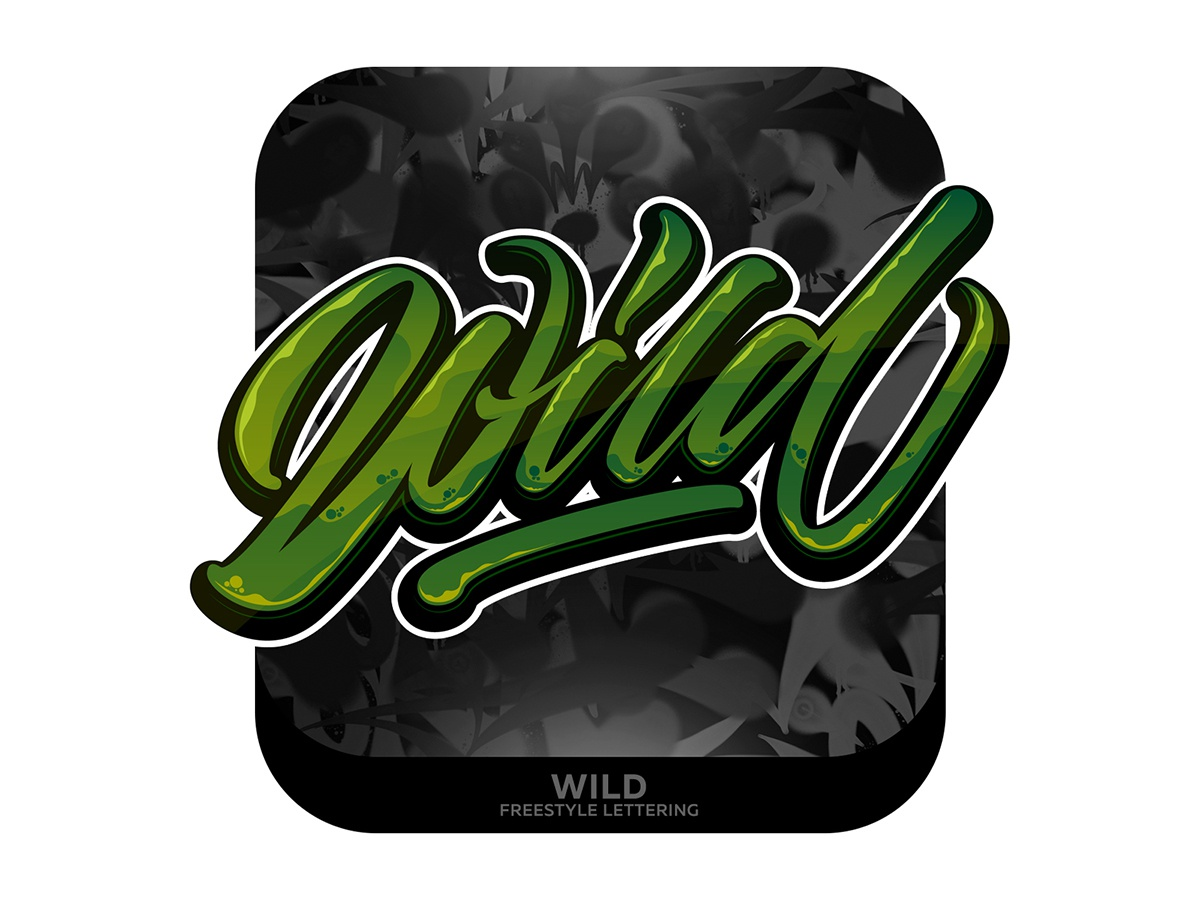 Wild Lettering type graffiti illustrator branding typography design леттеринг каллиграфия vector logotype logo lettering illustration calligraphy