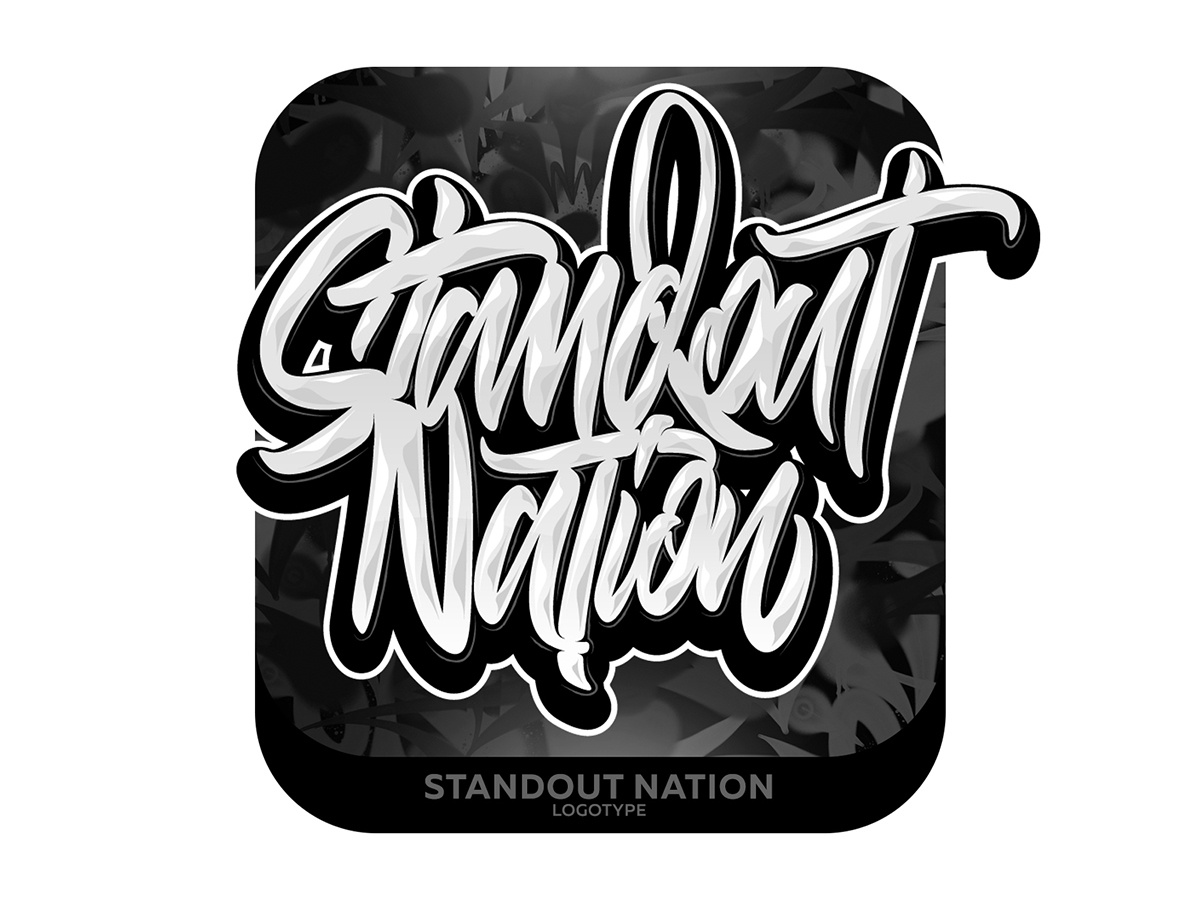 Standout Nation Lettering type graffiti illustrator branding typography design леттеринг каллиграфия vector logotype logo lettering illustration calligraphy
