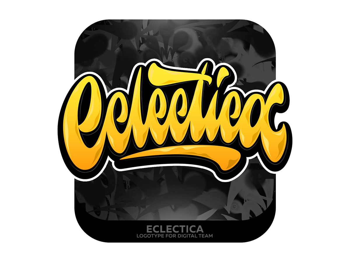 Eclectica Lettering type graffiti illustrator branding typography design леттеринг каллиграфия vector logotype logo lettering illustration calligraphy