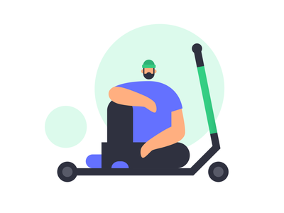 Riding like a pro ride sharing app scooters scooter character brand illustration vector illustration product illustration illustration illustration art minimalistic simple illustration character design digital illustration
