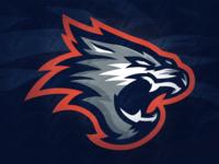 Premade Wolf Mascot Logo