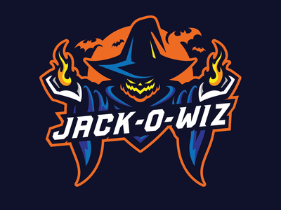 Jack O Wiz Logo sports logos sports mascot logo adobe adobe photoshop vector logo esports illustrator vector logo esports logo adobe illustrator sports mascot illustration sports logo mascot halloween