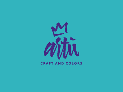 Artù - sustainable craftsmanship with recycled material brushpen colors craft calligraphy and lettering artist lettering calligraphy artist brush brush lettering calligraphy calligraphy logo typography branding design logo vector