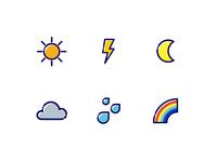 Free icon set - Tiny Weather