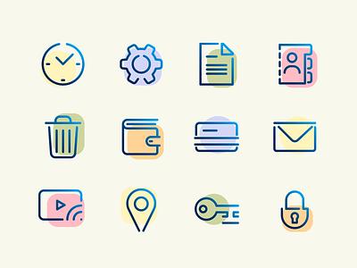 Smoothie icon set outline icon outline gradient iconographic icon sets icon app iconography system icon set smoothie icon set icons vector icon