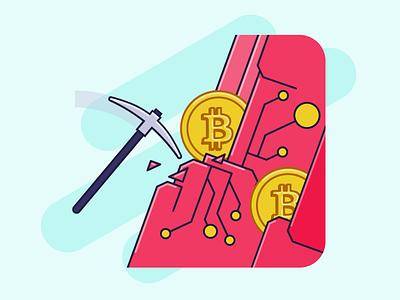 Mining Cryptocurrencies adobe illustrator adobe vector report outline filled illustrazioni illustrator illustration crypto wallet crypto exchange crypto currency cryptocurrency bitcoin services bitcoins bitcoin exchange bitcoin