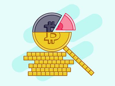 """Cryptocurrencies """"Bitcoin"""" illustrazione flat outline vector report outline filled illustrazioni illustrator illustration crypto wallet crypto exchange crypto currency cryptocurrency bitcoin services bitcoins bitcoin exchange bitcoin adobe illustrator adobe"""