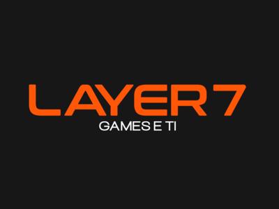 Layer 7 Rebranding game minimal typography website flat web branding design logo