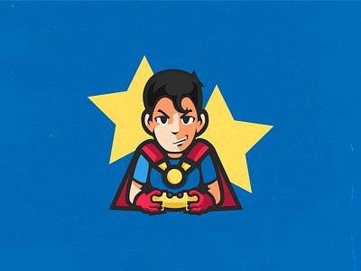 Bahia eSports illustration logotype mascotlogo logodesign superman esport mascot branding esports bahia