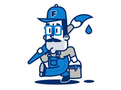 Sign Writer Mascot